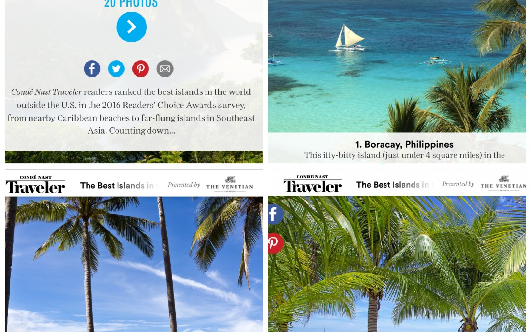 Conde Nast Traveler Readers Choice Awards Top 30 Islands In the World