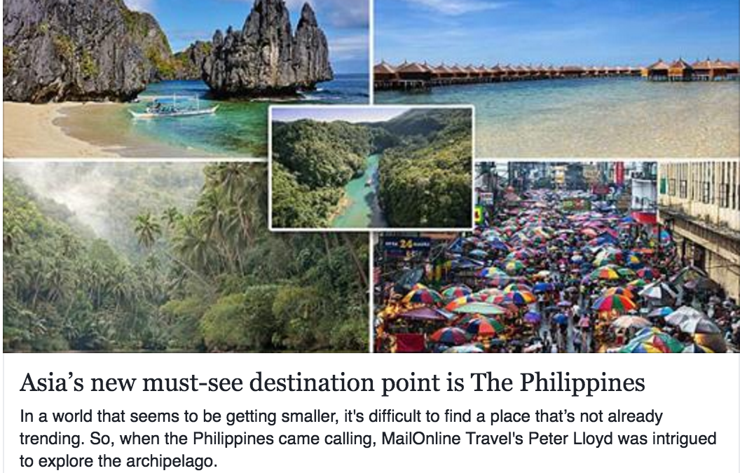 Philippines Gains Enormous Positive Publicity from Organised Press and Travel Trade Trips