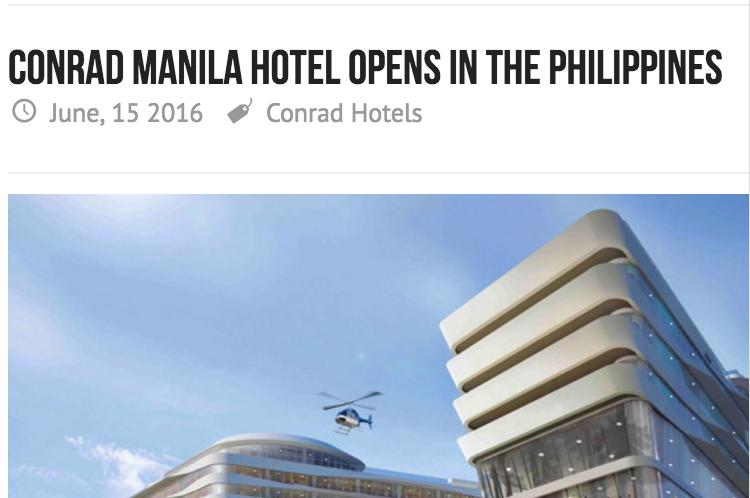 Conrad Manila Opens in the Philippines